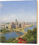 Pittsburgh Pennsylvania Incline Wood Print