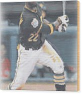 Pittsburgh Pirates Andrew Mccutchen 3 Wood Print