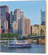 Pittsburgh River Cruise  Wood Print