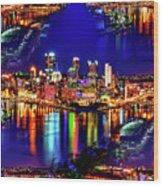 Pittsburgh Skyline Art Wood Print