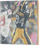 Pittsburgh Steelers Antonio Brown 2 Wood Print
