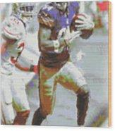 Pittsburgh Steelers Antonio Brown 3 Wood Print