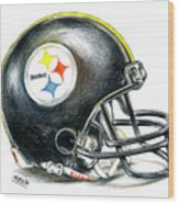 Pittsburgh Steelers Helmet Wood Print