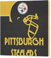 Pittsburgh Steelers Team Vintage Art Wood Print