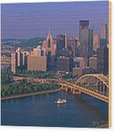 Pittsburgh,pennsylvania Skyline Wood Print