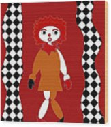 Pittypat Clown Wood Print