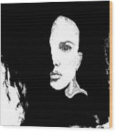 Pixel Stare Wood Print