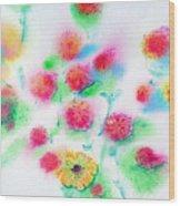 Pixie Flowers Wood Print