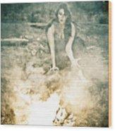 Pixie Smoke Wood Print