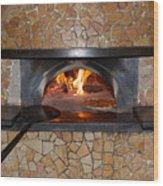 Pizza Oven Wood Print