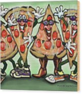 Pizza Party Wood Print
