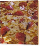 Pizza Pie Wood Print