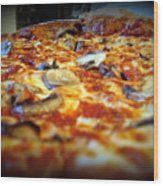 Pizza Pie For The Eye Wood Print