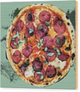 Pizza - The Corleone Special Wood Print