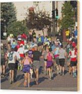 Pikes Peak Marathon And Ascent Wood Print