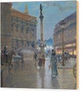 Place De L Opera In Paris Wood Print