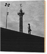 Place De La Bastille - Paris. Wood Print