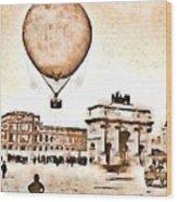 Place Du Carrousel 1878 Wood Print