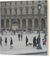 Place Du Carrousel At The Louvre Wood Print