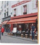 Place Du Tertre In Paris Wood Print
