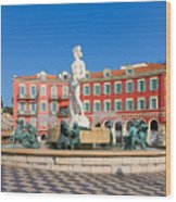 Place Massena Of Nice In France Wood Print