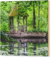 Place To Relax And Meditate  Wood Print