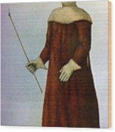 Plague Costume Wood Print