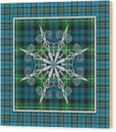 Plaid Snowflakes-jp3704 Wood Print