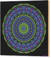 Plaid Wheel Mandala Wood Print