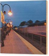 Plainfield Train Station Wood Print