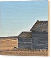 Plains Homestead  Wood Print