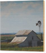 Plains Painted Barn Wood Print