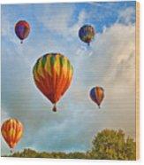 Plainville Balloons 2 Wood Print