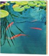 Plaisir Aquatique Wood Print