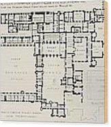Plan Of Principal Floor Of Hampton Wood Print