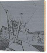 Plane 3 Wood Print