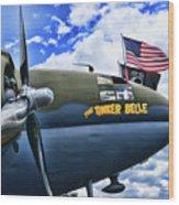 Plane - Curtiss C-46 Commando Wood Print