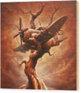 Plane Old Tree Wood Print