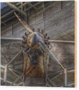 Spirit Of St Louis Propeller Airplane Wood Print