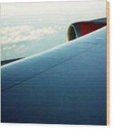 Plane View Wood Print