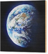 Planet Earth. Space Art Wood Print