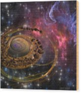 Planet Formation Wood Print
