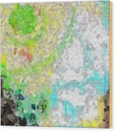 Planet Green Wood Print