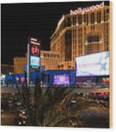 Planet Hollywood Hotel Wood Print by Andy Smy