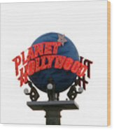 Planet Hollywood Sign Vegas Wood Print