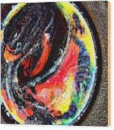 Planet In Orbit Wood Print