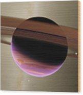 Planet Lenho Wood Print