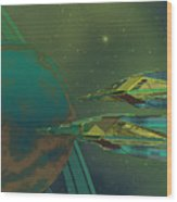 Planet Of Origin Wood Print