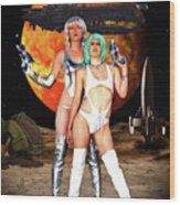 Planet Of The Space Vixens Wood Print