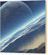 Planet Rise Wood Print
